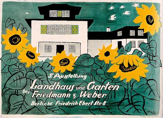 Landhaus Und Garten Berlin 1930 Pechstein | Vintage Ad and Cover Art 1891-1970
