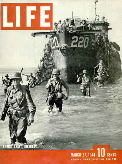 Landing Craft Infantry 27 Mar 1944 Copyright Life Magazine | Life Magazine BW Photo Covers 1936-1970