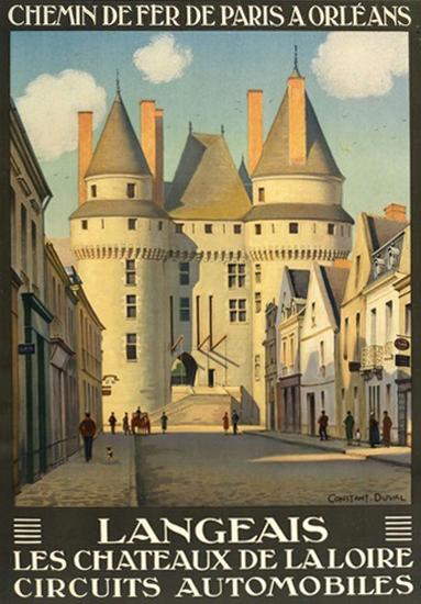Langeais Les Chateaux De La Loire   Vintage Travel Posters 1891-1970
