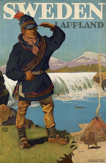 Lappland Sweden | Vintage Travel Posters 1891-1970