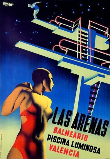 Las Arenas Balneario Valencia Diving Platform | Sex Appeal Vintage Ads and Covers 1891-1970
