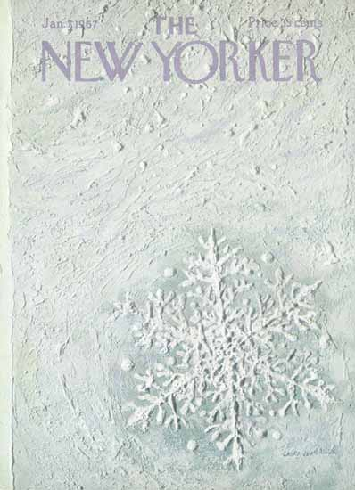 Laura Jean Allen The New Yorker 1967_01_07 Copyright | The New Yorker Graphic Art Covers 1946-1970