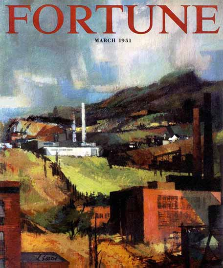 Laurence Sisson Fortune Magazine March 1951 Copyright | Fortune Magazine Graphic Art Covers 1930-1959