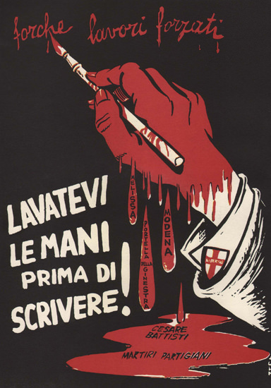 Lavatevi Le Mani Prima Di Scrivere Italy Itali | Vintage War Propaganda Posters 1891-1970