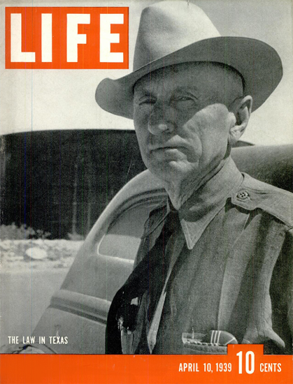 Law in Texas 10 Apr 1939 Copyright Life Magazine | Life Magazine BW Photo Covers 1936-1970