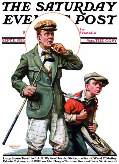 Lawrence Toney Saturday Evening Post Golf 1926_09_11 | The Saturday Evening Post Graphic Art Covers 1892-1930