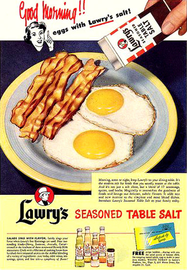 Lawrys Seasoned Table Salt Good Morning | Vintage Ad and Cover Art 1891-1970