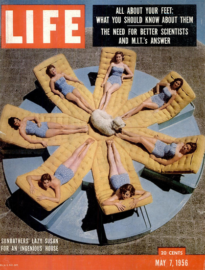 Lazy Suzan in Palm Springs7 May 1956 Copyright Life Magazine | Life Magazine Color Photo Covers 1937-1970