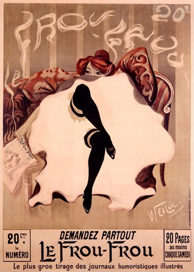 Le Frou Frou Magazine Lucien Henri Weiluc | Sex Appeal Vintage Ads and Covers 1891-1970