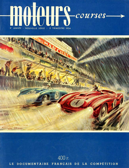 Le Mans 24 Heures Marchal 1954 | Vintage Ad and Cover Art 1891-1970