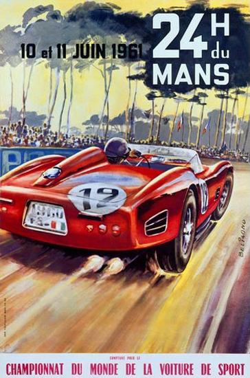 Le Mans 24 Hours Championnat Du Monde 1961 | Vintage Ad and Cover Art 1891-1970