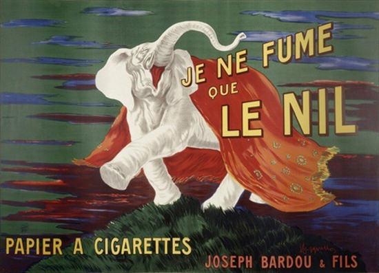 Le Nil Papier A Cigarettes Joseph Bardou   Vintage Ad and Cover Art 1891-1970