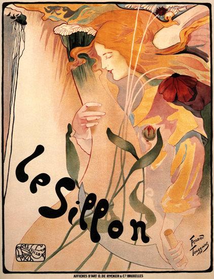 Le Sillon Belgium 1895 Art Nouveau Jugendstil | Sex Appeal Vintage Ads and Covers 1891-1970