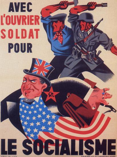 Le Socialisme Belgium For Socialism Eject The USA   Vintage War Propaganda Posters 1891-1970