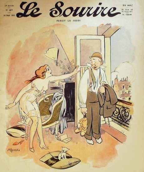 Le Sourire 1911 Parait Le Jeudi Edouard Bernard | Sex Appeal Vintage Ads and Covers 1891-1970