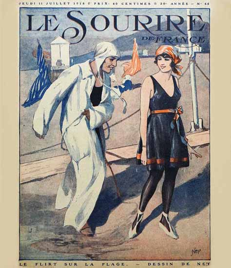 Le Sourire 1918 Le Flirt Ney | Sex Appeal Vintage Ads and Covers 1891-1970