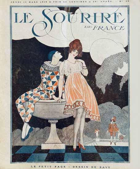 Le Sourire 1918 Le Petit Page Savy Montassier | Sex Appeal Vintage Ads and Covers 1891-1970