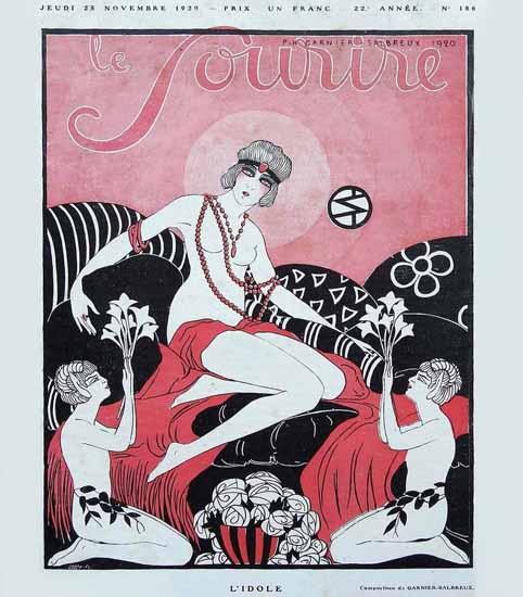 Le Sourire 1920 L Idole Garnier-Salbreux | Sex Appeal Vintage Ads and Covers 1891-1970
