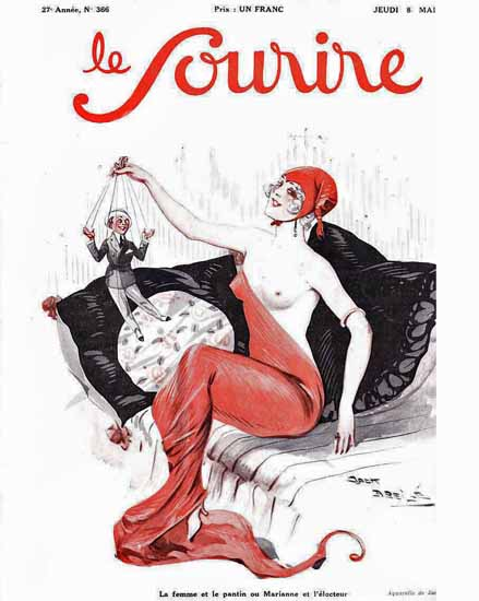 Le Sourire 1924 Marianne Jack Abeille | Sex Appeal Vintage Ads and Covers 1891-1970