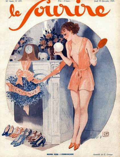 Le Sourire 1929 Moins Cinq Georges Leonnec | Sex Appeal Vintage Ads and Covers 1891-1970