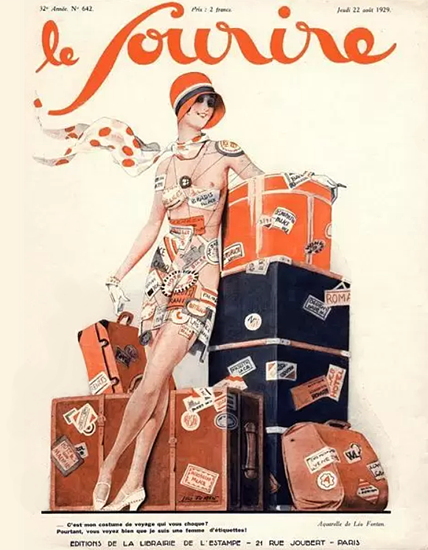 Le Sourire 1929 Voyage Leo Fontan | Sex Appeal Vintage Ads and Covers 1891-1970