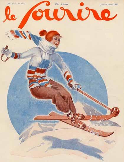 Le Sourire 1930 Janvier 6 Georges Leonnec | Sex Appeal Vintage Ads and Covers 1891-1970
