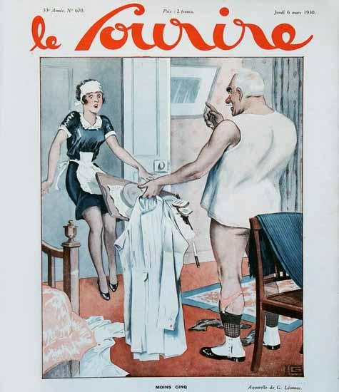Le Sourire 1930 Moins Cinq Georges Leonnec | Sex Appeal Vintage Ads and Covers 1891-1970