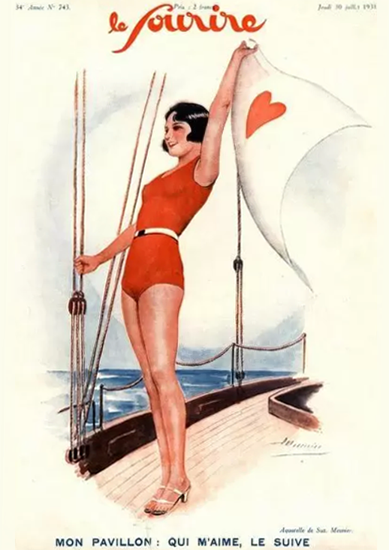 Le Sourire 1931 Mon Pavillon Suzanne Meunier | Sex Appeal Vintage Ads and Covers 1891-1970
