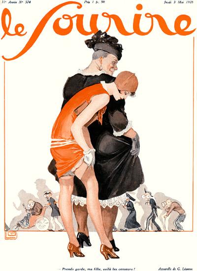 Le Sourire Magazine 1928 Voila Les Censeurs | Sex Appeal Vintage Ads and Covers 1891-1970