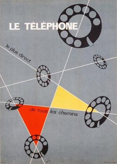 Le Telephone Le Plus Direct 1937 | Vintage Ad and Cover Art 1891-1970