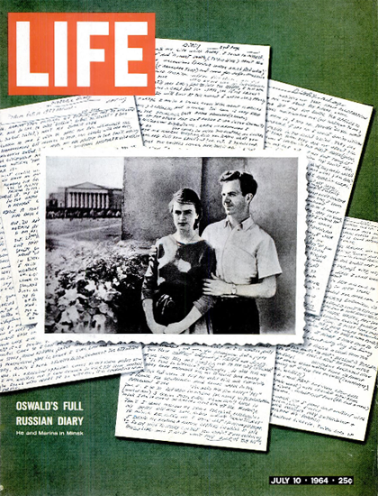 Lee Oswald full Russian Diary 10 Jul 1964 Copyright Life Magazine   Life Magazine Color Photo Covers 1937-1970