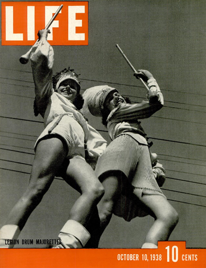 Legion Drum Majorettes 10 Oct 1938 Copyright Life Magazine   Life Magazine BW Photo Covers 1936-1970