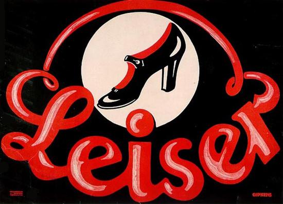 Leiser Schuhe Shoes Julius Gipkens 1907 | Vintage Ad and Cover Art 1891-1970