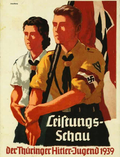 Leistungsschau Der Thueringer Hitlerjugend 1939 | Vintage War Propaganda Posters 1891-1970