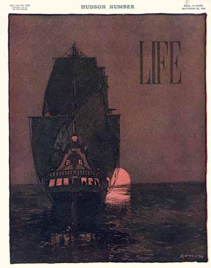 Lejaren Hiller Life Humor Magazine 1909-09-30 Copyright | Life Magazine Graphic Art Covers 1891-1936