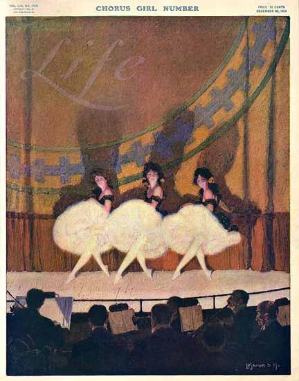 Lejaren Hiller Life Humor Magazine 1909-12-30 Copyright | Life Magazine Graphic Art Covers 1891-1936
