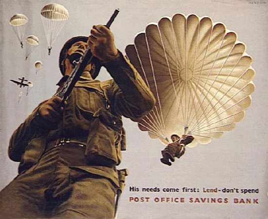 Lend Dont Spend Post Office Savings Bank | Vintage War Propaganda Posters 1891-1970