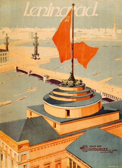 Leningrad Edite Par Intourist USSR | Vintage Travel Posters 1891-1970