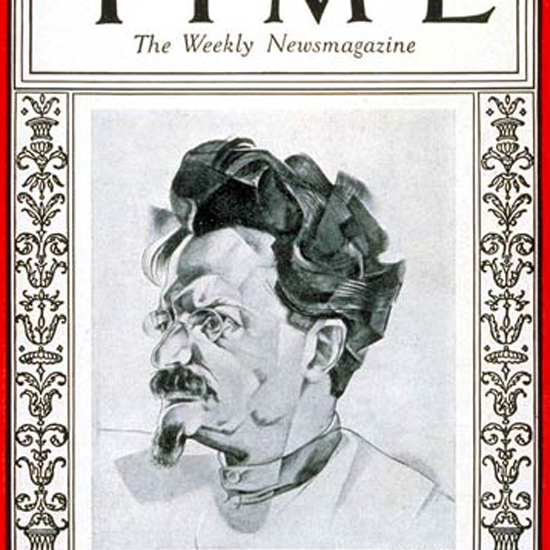 Leon D Trotsky Time Magazine 1927-11 crop   Best of Vintage Cover Art 1900-1970