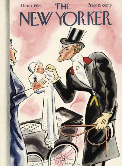 Leonard Dove The New Yorker 1934_12_01 Copyright | The New Yorker Graphic Art Covers 1925-1945