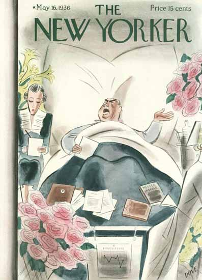 Leonard Dove The New Yorker 1936_05_16 Copyright | The New Yorker Graphic Art Covers 1925-1945