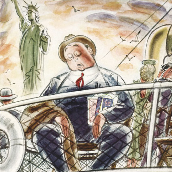 Leonard Dove The New Yorker 1939_06_24 Copyright crop | Best of Vintage Cover Art 1900-1970