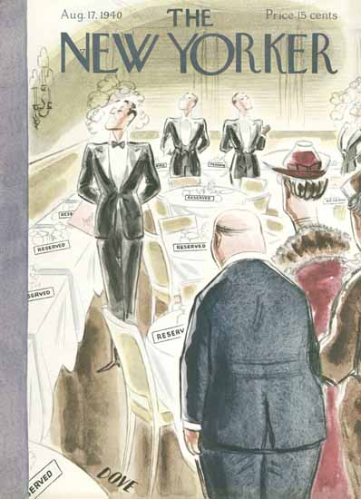 Leonard Dove The New Yorker 1940_08_17 Copyright | The New Yorker Graphic Art Covers 1925-1945