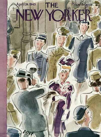Leonard Dove The New Yorker 1943_04_24 Copyright | The New Yorker Graphic Art Covers 1925-1945