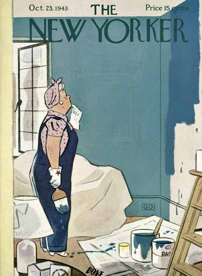 Leonard Dove The New Yorker 1943_10_23 Copyright | The New Yorker Graphic Art Covers 1925-1945