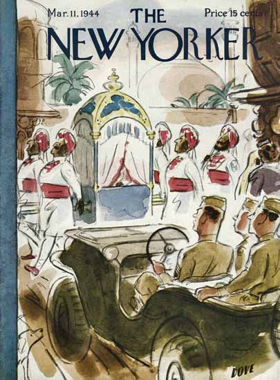 Leonard Dove The New Yorker 1944_03_11 Copyright | The New Yorker Graphic Art Covers 1925-1945