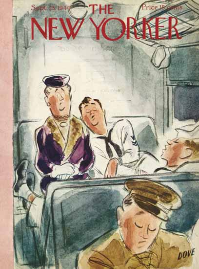 Leonard Dove The New Yorker 1944_09_23 Copyright | The New Yorker Graphic Art Covers 1925-1945