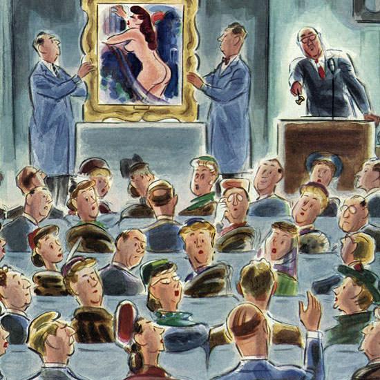 Leonard Dove The New Yorker 1951_01_06 Copyright crop | Best of Vintage Cover Art 1900-1970