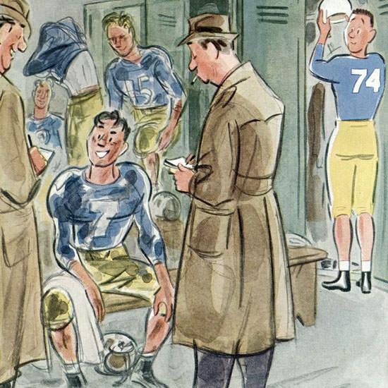 Leonard Dove The New Yorker 1951_10_27 Copyright crop | Best of Vintage Cover Art 1900-1970