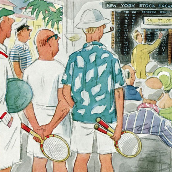 Leonard Dove The New Yorker 1957_02_09 Copyright crop | Best of Vintage Cover Art 1900-1970